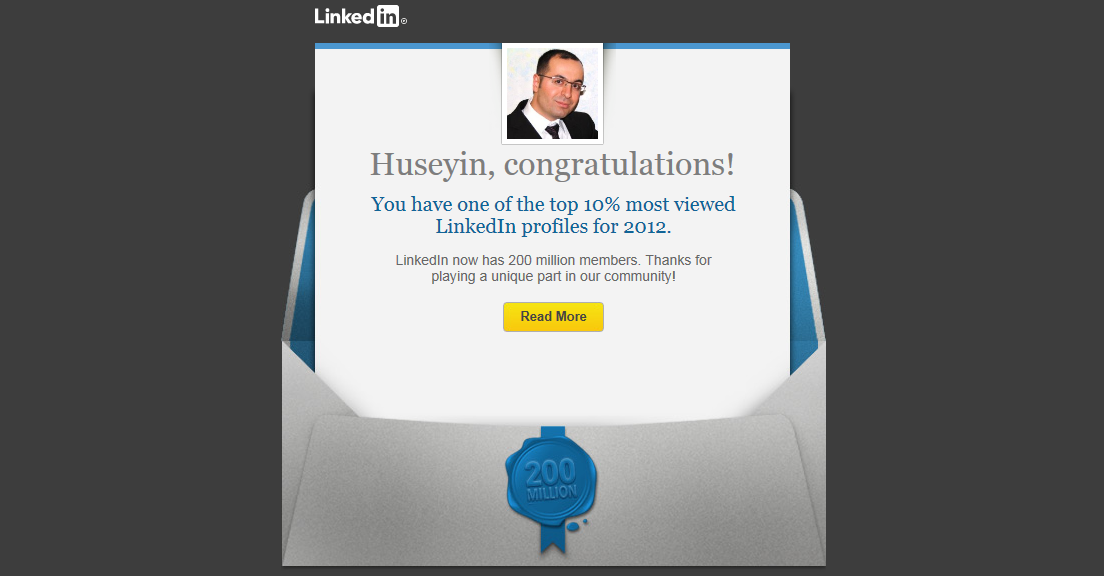 Hurray! I have one of the top 10% most viewed @LinkedIn profiles for 2012.