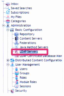 Documentum : DA : LDAP Servers Configuration, dm_LDAPSynchronization job